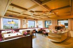 Speisesaal im Panorama Hotel Garni Bühlerhof in Lana - Südtirol