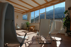 relaxing zone over the roof with magic view to the Catinaccio - Dolomites - Hotel Edelweiss