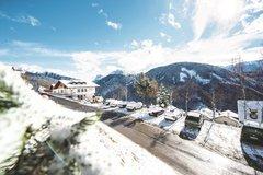Alpenhof view Dolomites winter